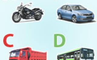 К категории в относятся автомобили